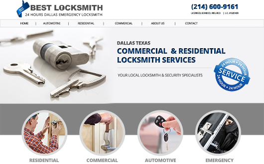 Locksmith Website, Dallas Texas