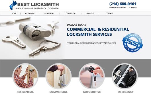 Locksmith Website, Dallas Texas