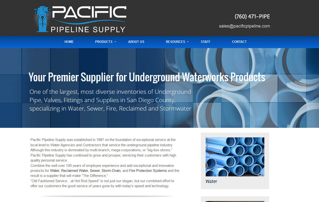 Pipeline Supply Web Design San Marcos