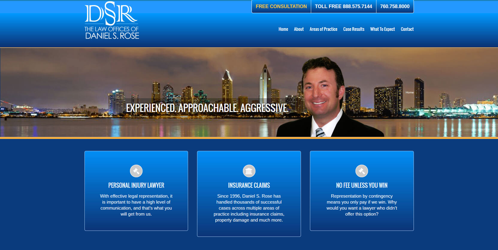 Lawyer Website Vista, Ca - Jewel Web & Design