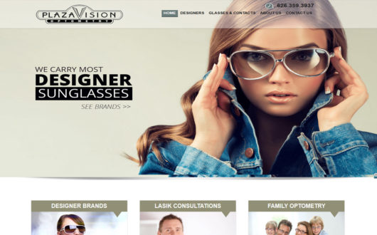 Webdesign for Optometrist