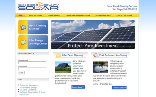 Solar Website Design, Encinitas CA
