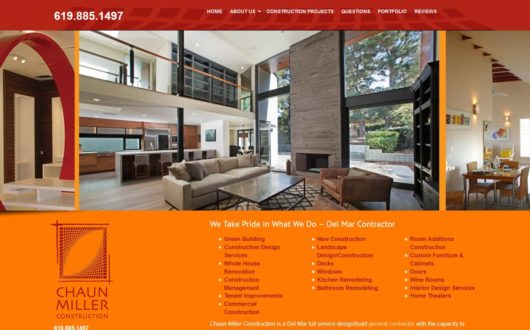 Construction Website Design Cardiff, CA