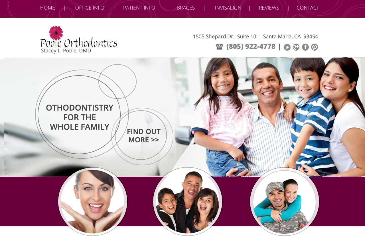 Webdesign for Dentist