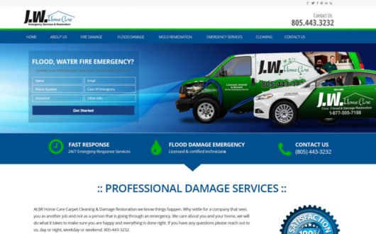 Flood Damage Website in Ventura, CA