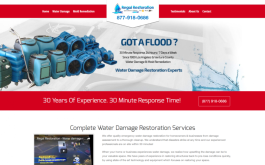 Restoration Website Design Los Angeles