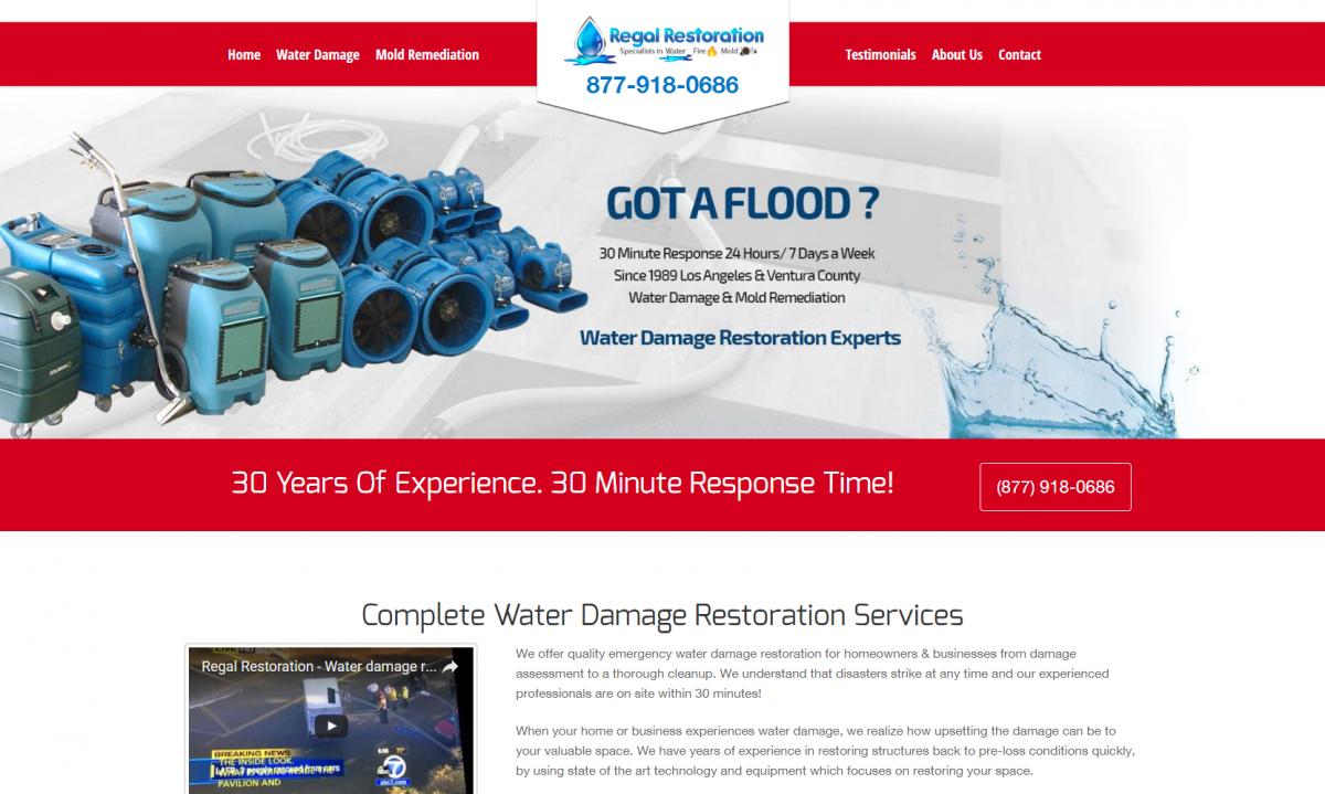 Restoration Website Design Los Angeles