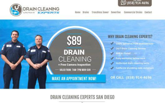 Drain Cleaning Website San Diego, CA
