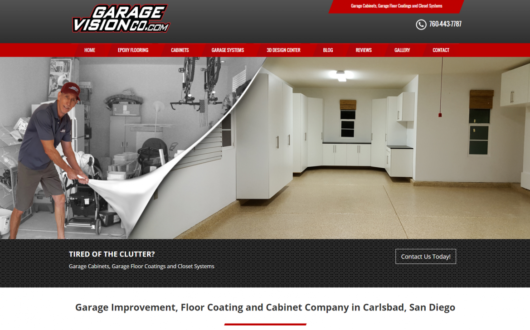 Garage Flooring & Cabinet Website, Carlsbad CA
