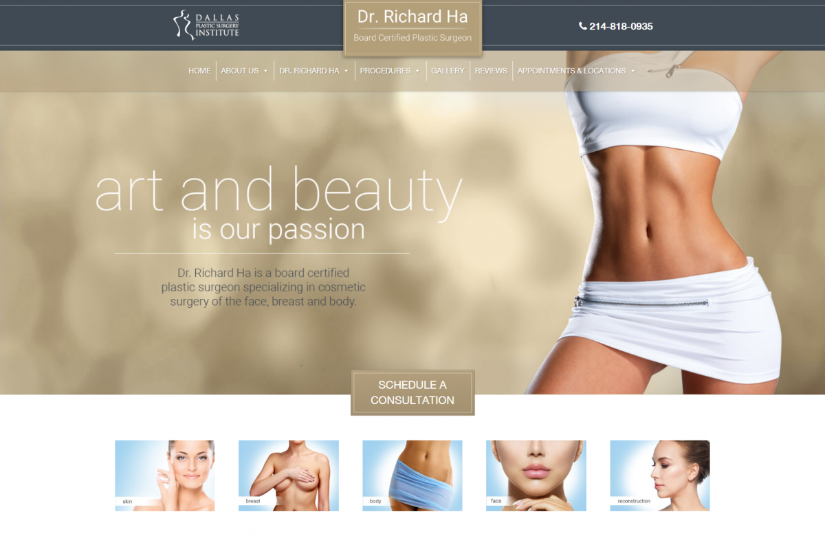 Plastic Surgery Website in Texas