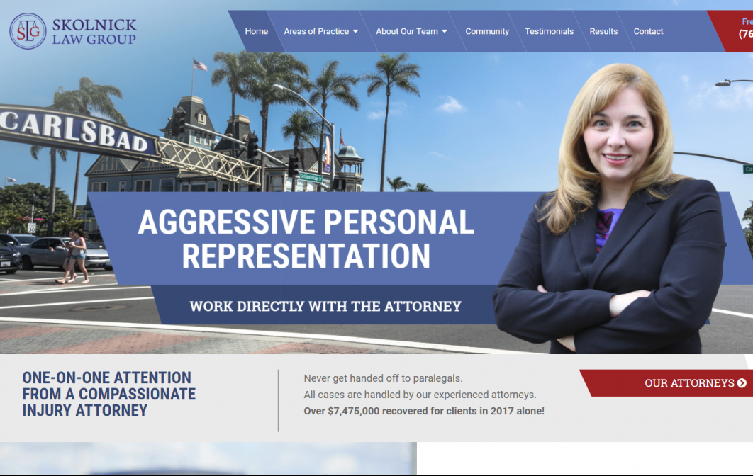 Website and Logo Design for Lawyer in Carlsbad, CA